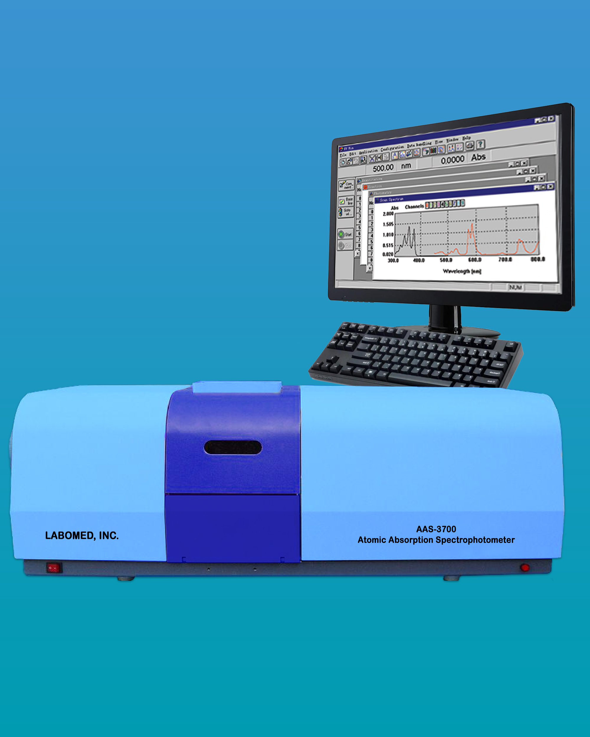 [AAS-3700] Atomic Absorption Spectrophotometer - Flame System
