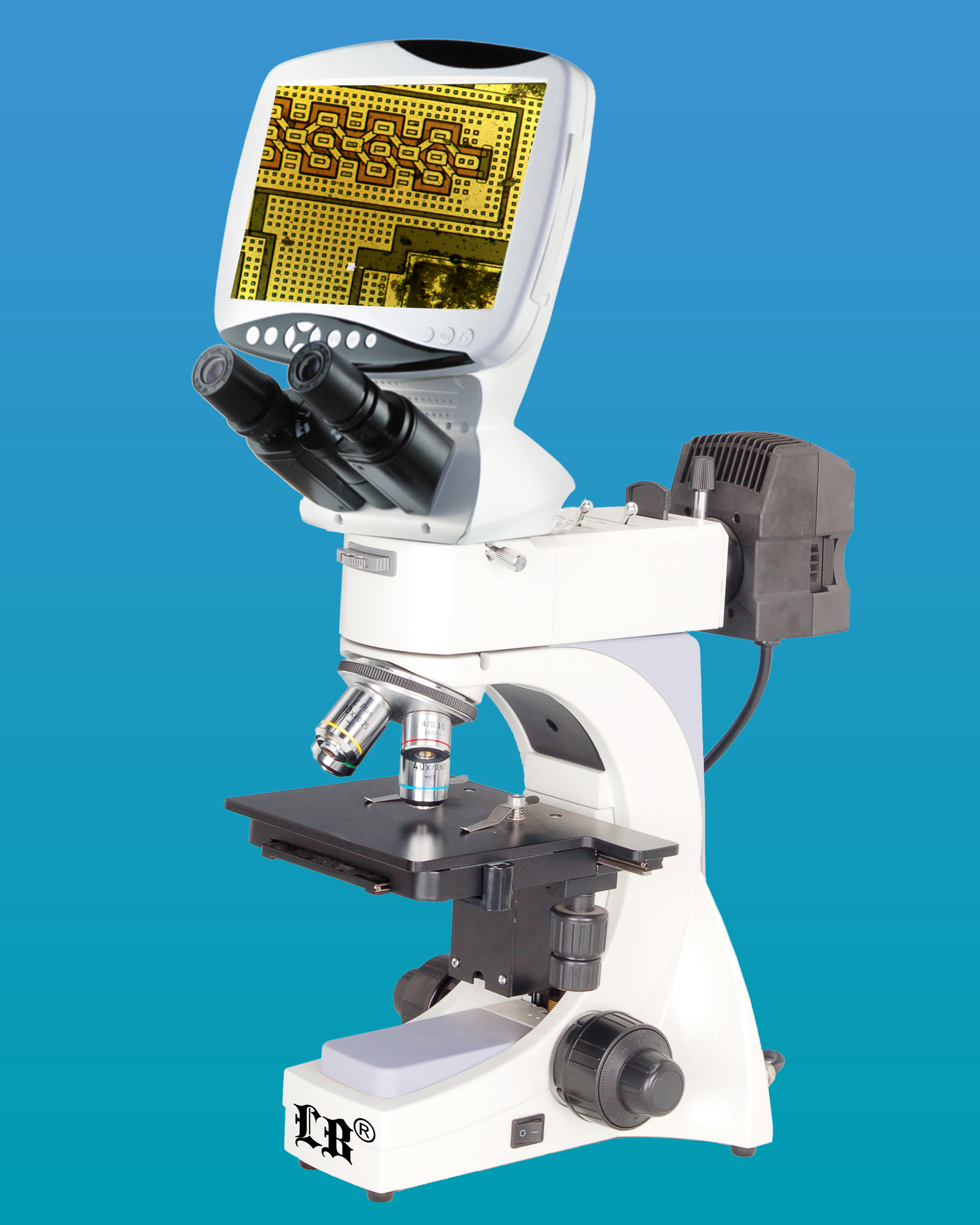 [LB-1600] Compound Digital LCD Metallurgical Microscope w/ 5.0MP Camera