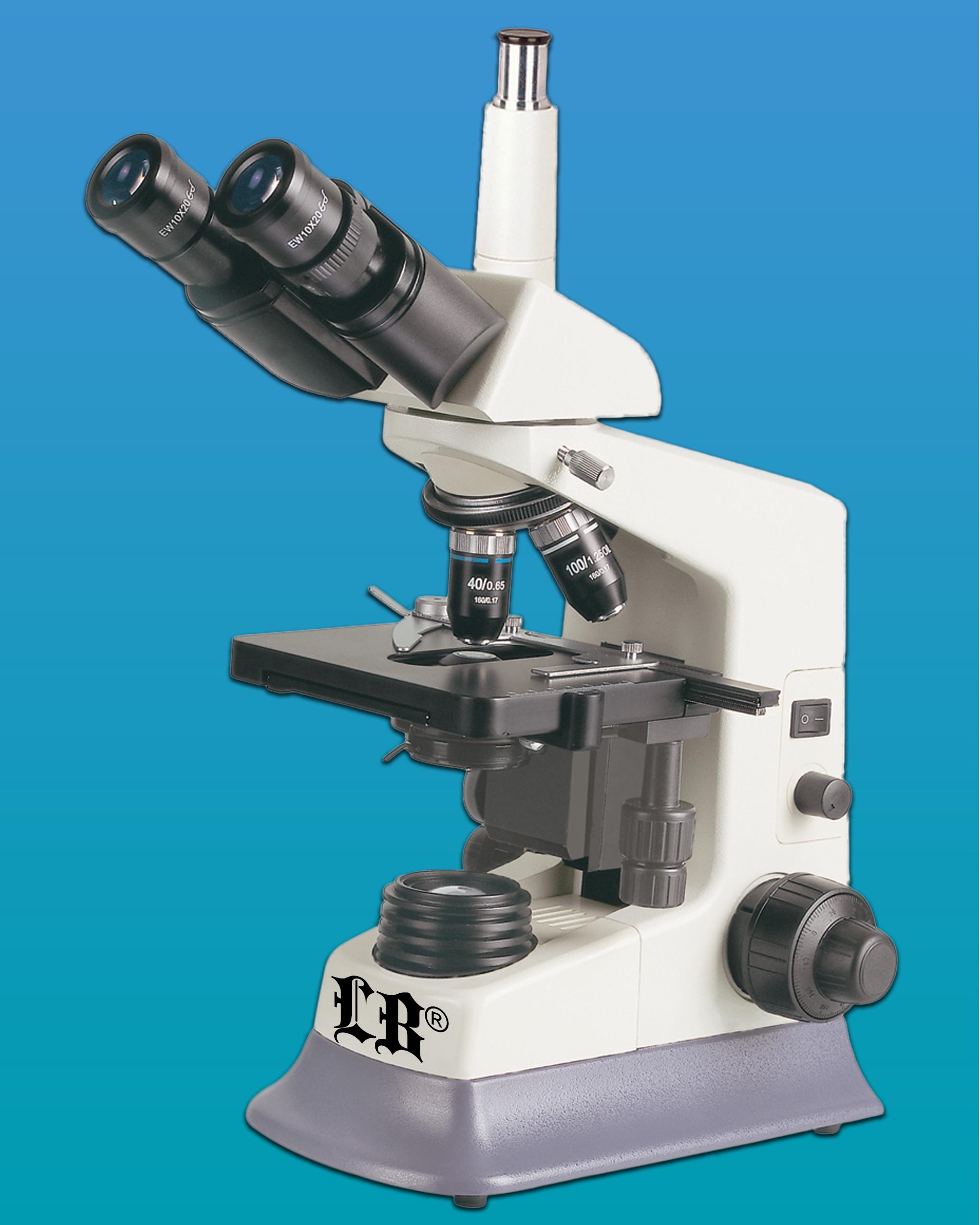 [LB-257] Biological Trinocular Microscope w/ Wide Field, LED Illumination & 6 Plan Achromatic Objectives