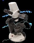 [LB-867] Binocular Digital Stereo Zoom Gemological Microscope with Extra Wide Field, 3.2MP Digital Camera, Halogen & Fluorescent Illumination