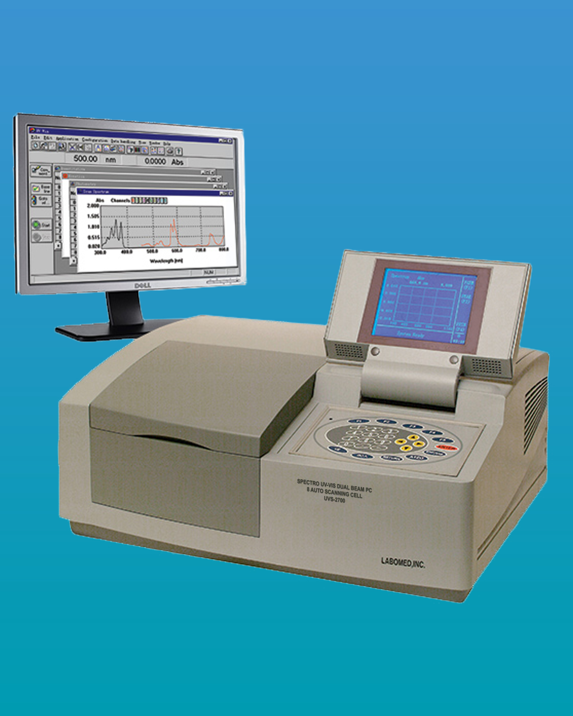[UVS-2700] UV-Vis Spectrophotometer Scanning System w/ 8 Automatic Cell Changer Spectro