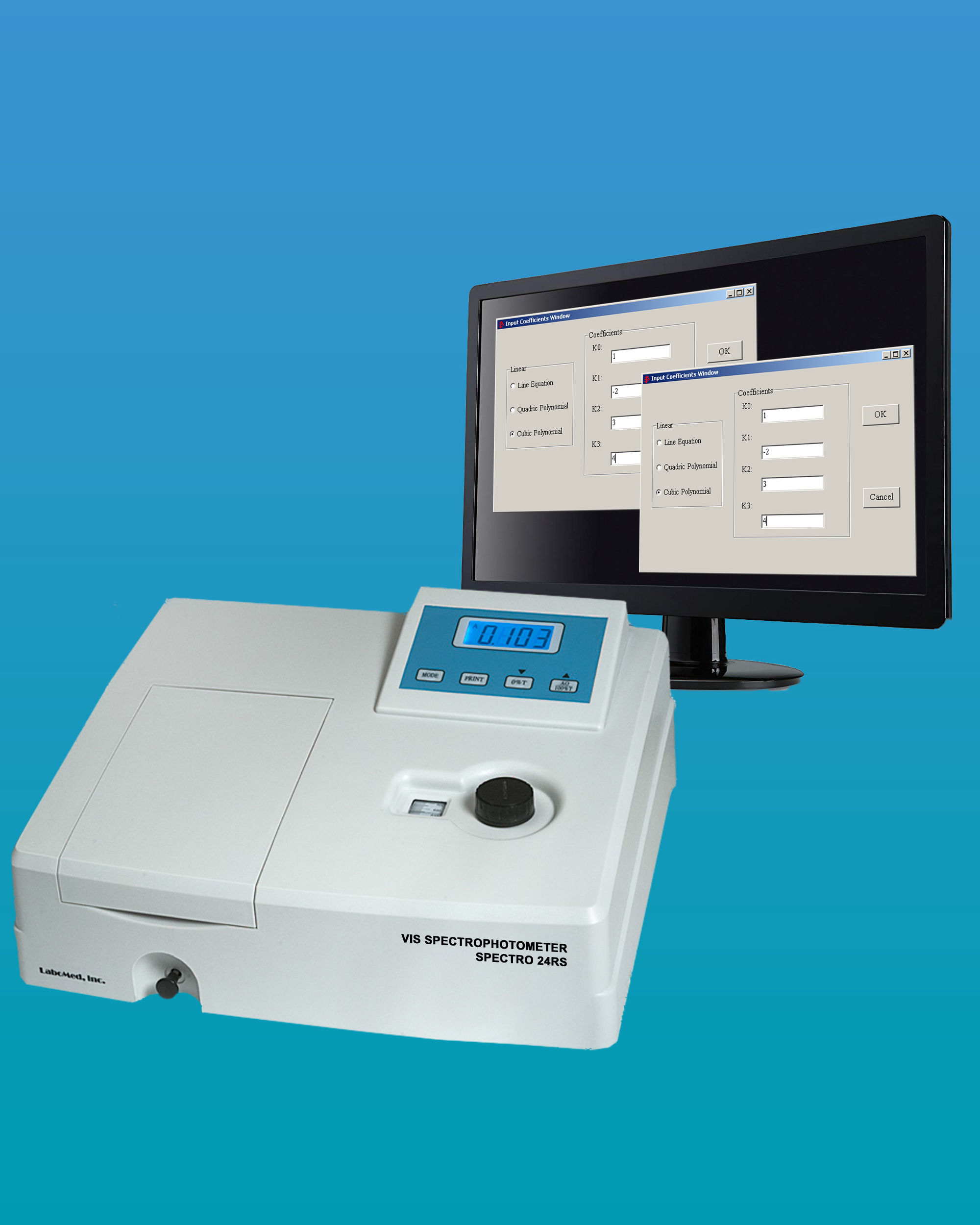 [24RS] Visible Spectrophotometer w/ Multiple Cell Holders