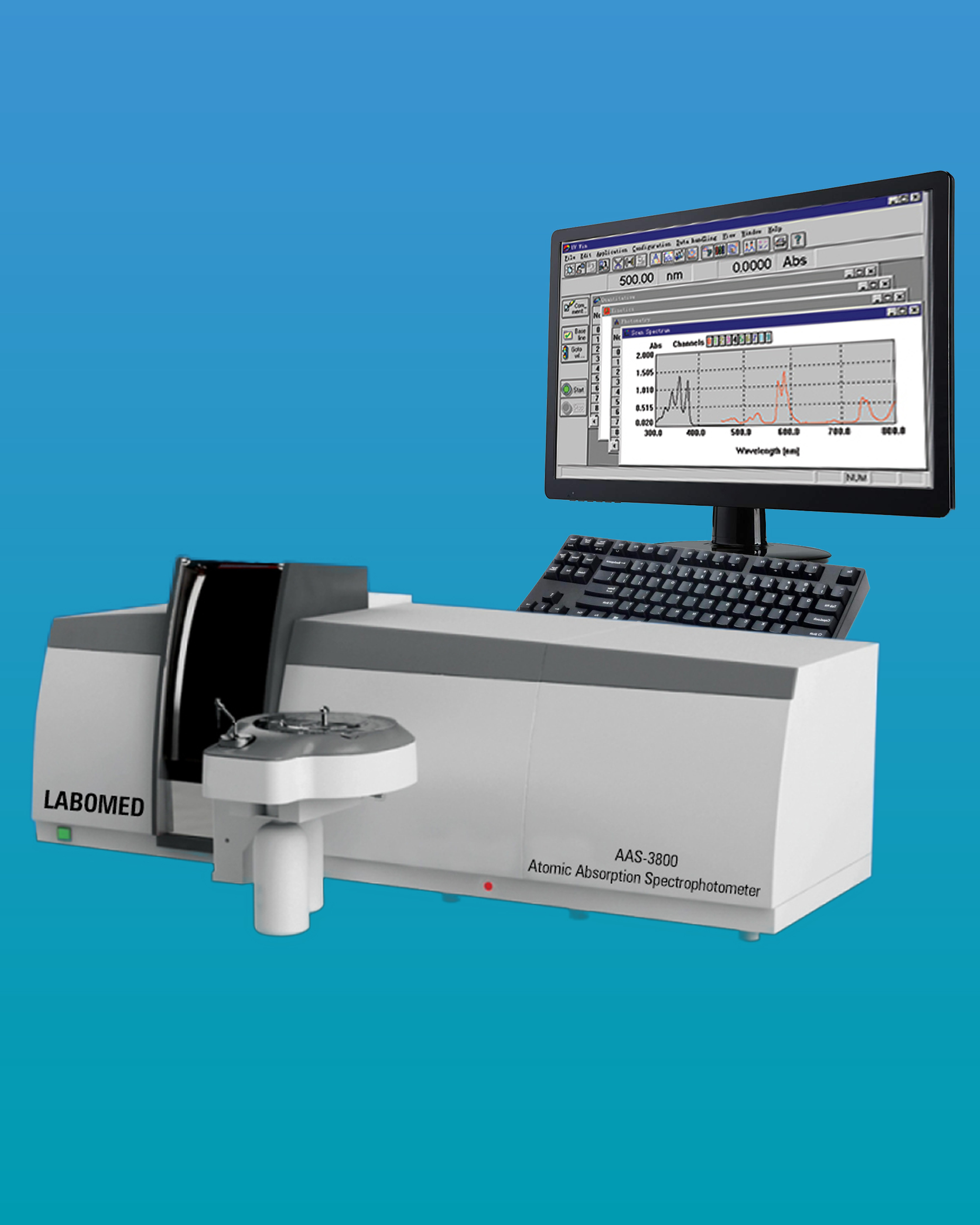 [AAS-3800] Atomic Absorption Spectrophotometer - Flame System