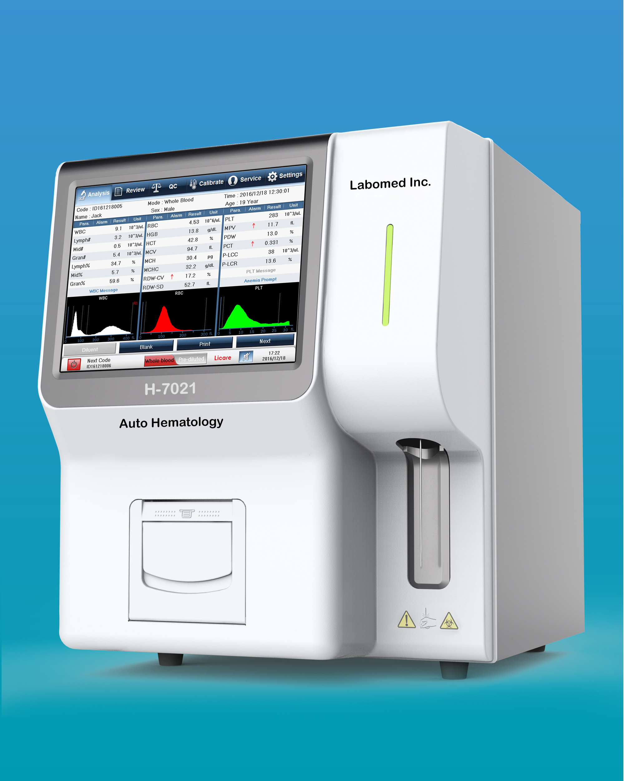 [H-7021] Fully Automatic Hematology Analyzer (21 Parameter)