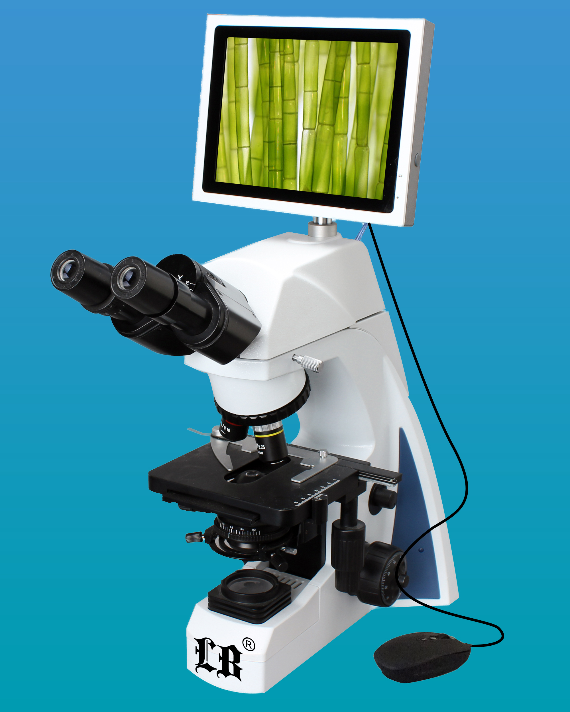 [LB-1280] Compound LCD Digital Microscope (5.0MP) w/ Extra Wide Field & Infinite Semi-Plan Optical System (Infinity Color Corrected System)