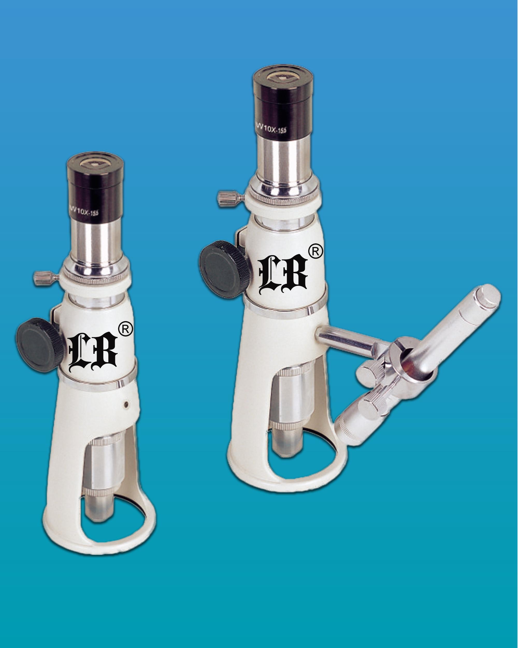 [LB-137] Portable Measuring Microscope w/ 40x Objective Zoom & LED Illumination