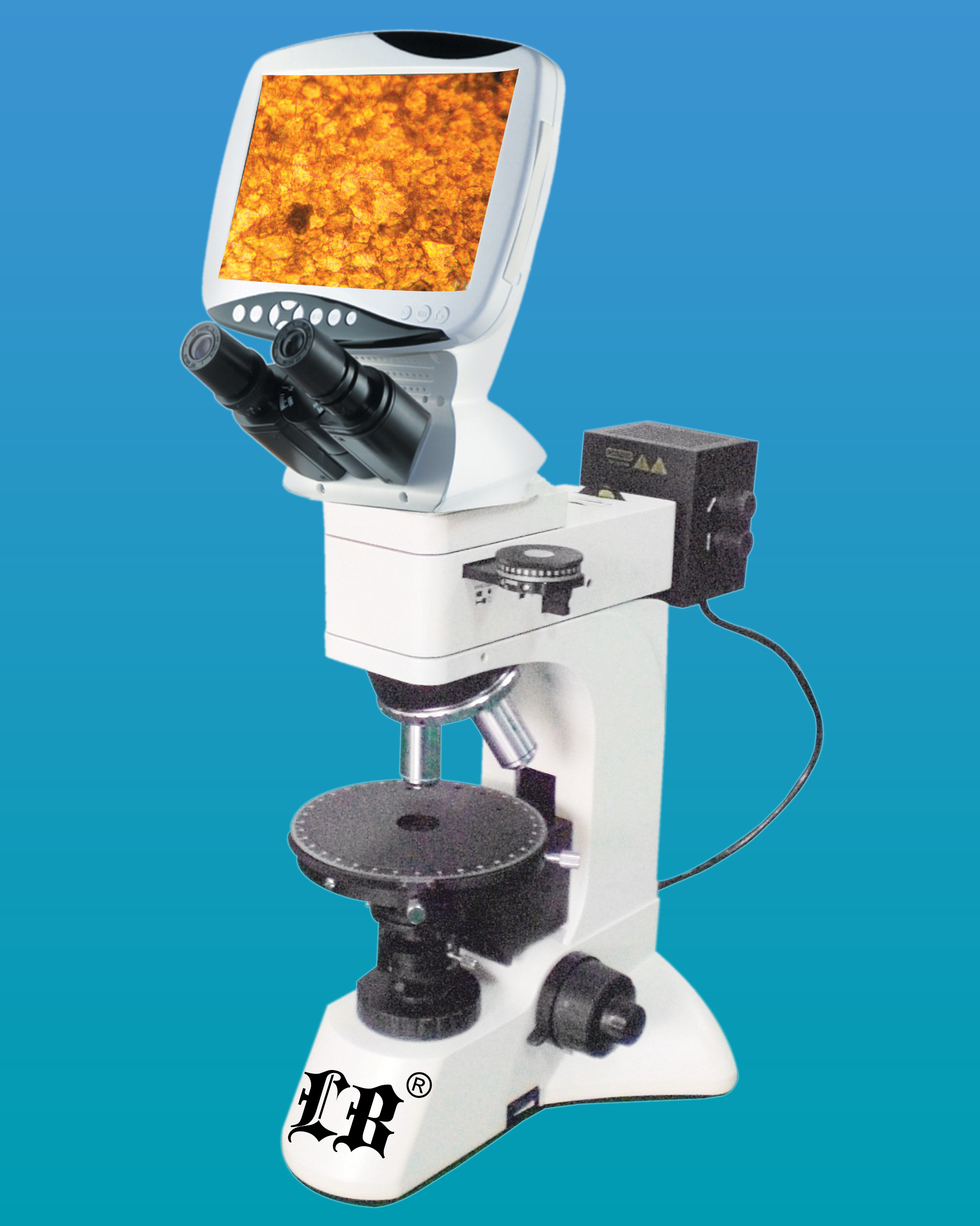 [LB-1500] Digital LCD Polarizing Microscope w/ 12.0MP Camera