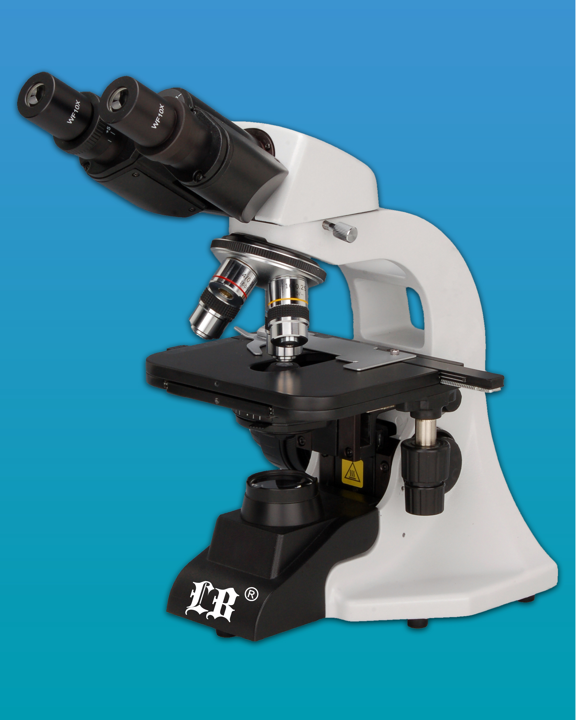 [LB-204] Binocular Biological Microscope w/ Quadruple Nosepiece & LED Illumination