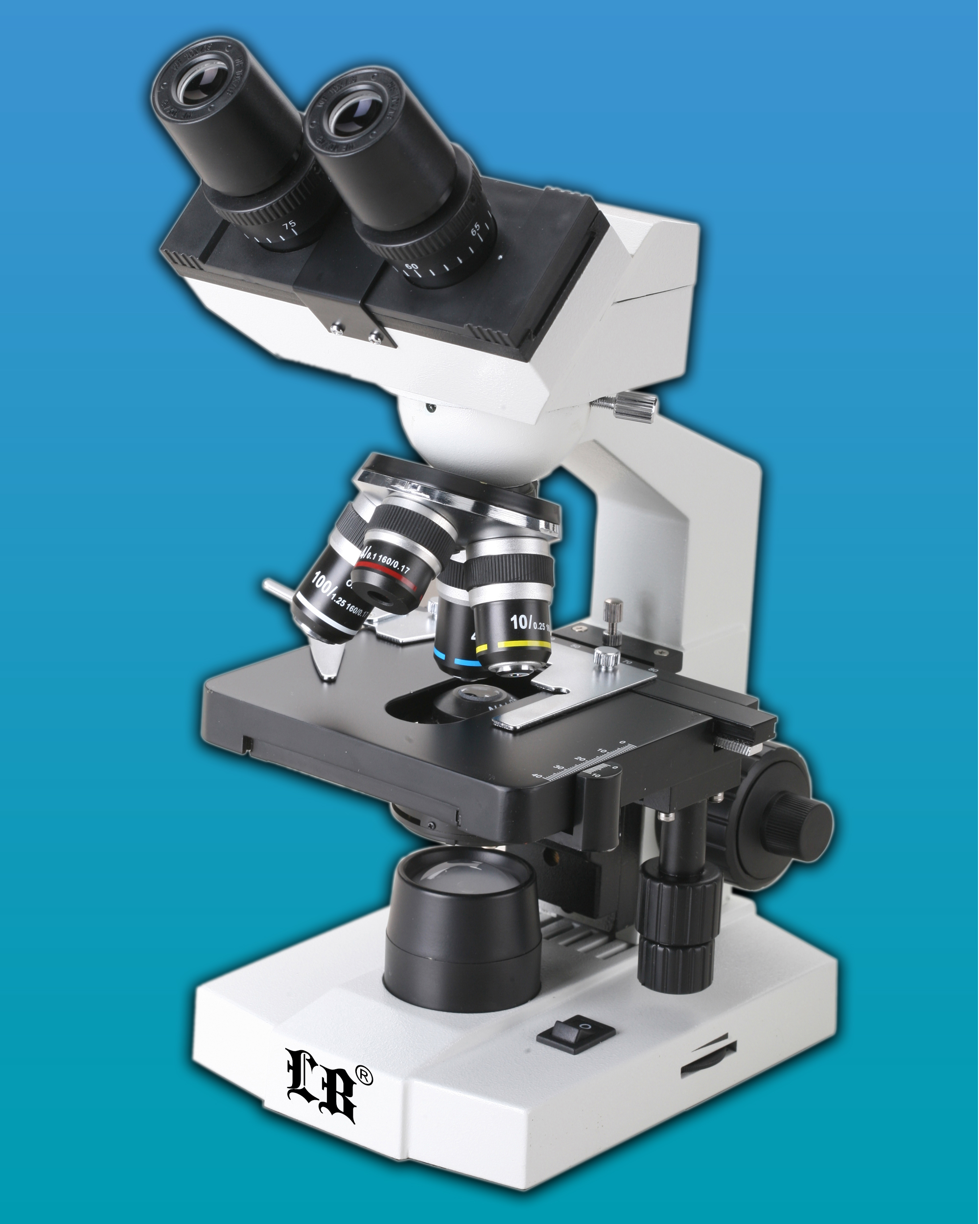 [LB-212] Biological Digital Microscope w/ Wide Field Plane-Scope Eyepiece, Camera & Software
