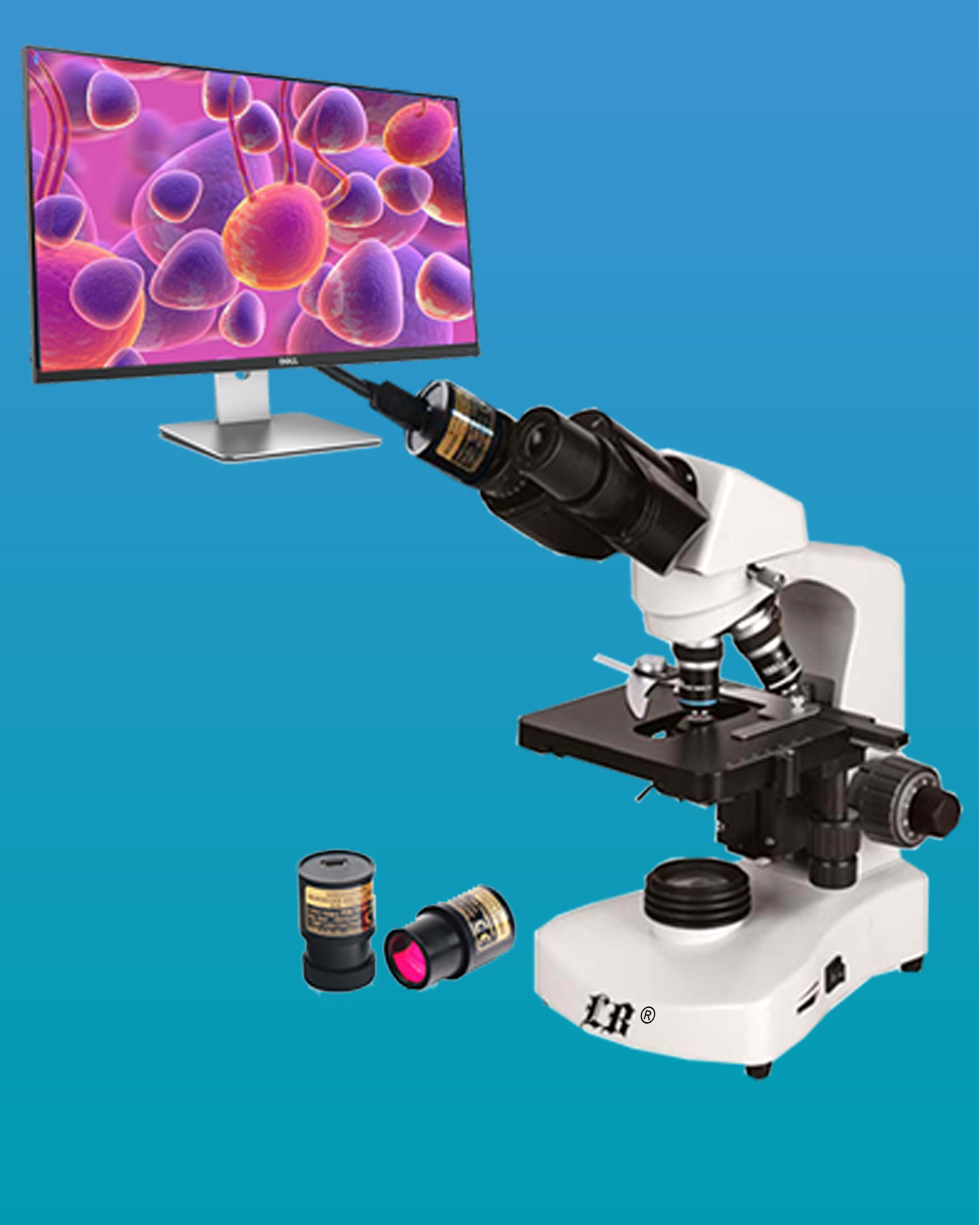 [LB-229] Compound LCD Digital Biological Microscope