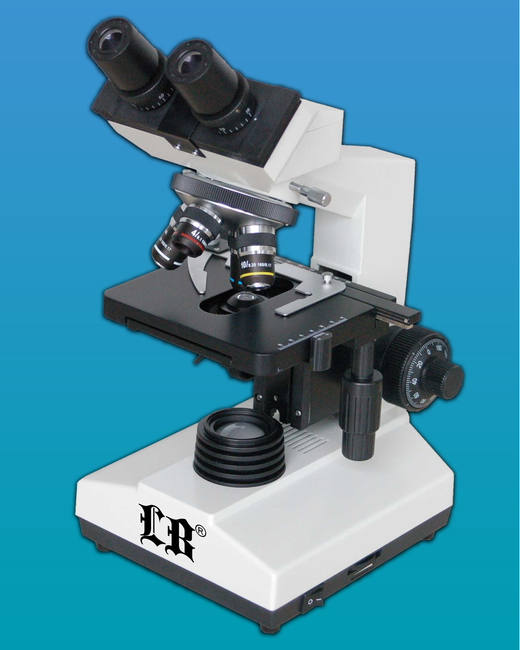 [LB-234] Biological Microscope w/ Advanced Alignment, LED Illumination & 4 Achromatic Objectives