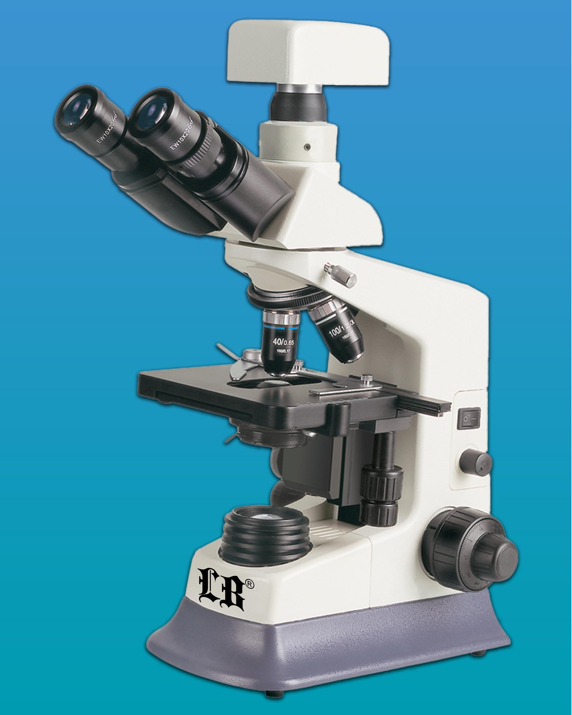 [LB-237] Binocular Bio Digital Microscope w/ Turret Phase Contrast Kit & LED