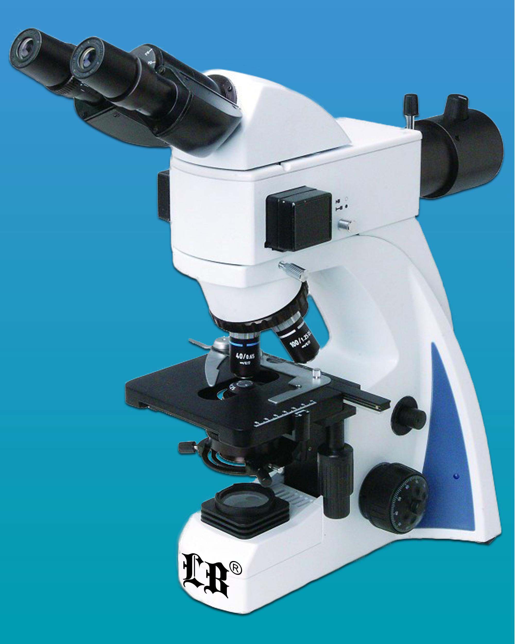 [LB-244] Binocular LED Fluorescent Biological Microscope w/ Epi-Fluorescent Attachment