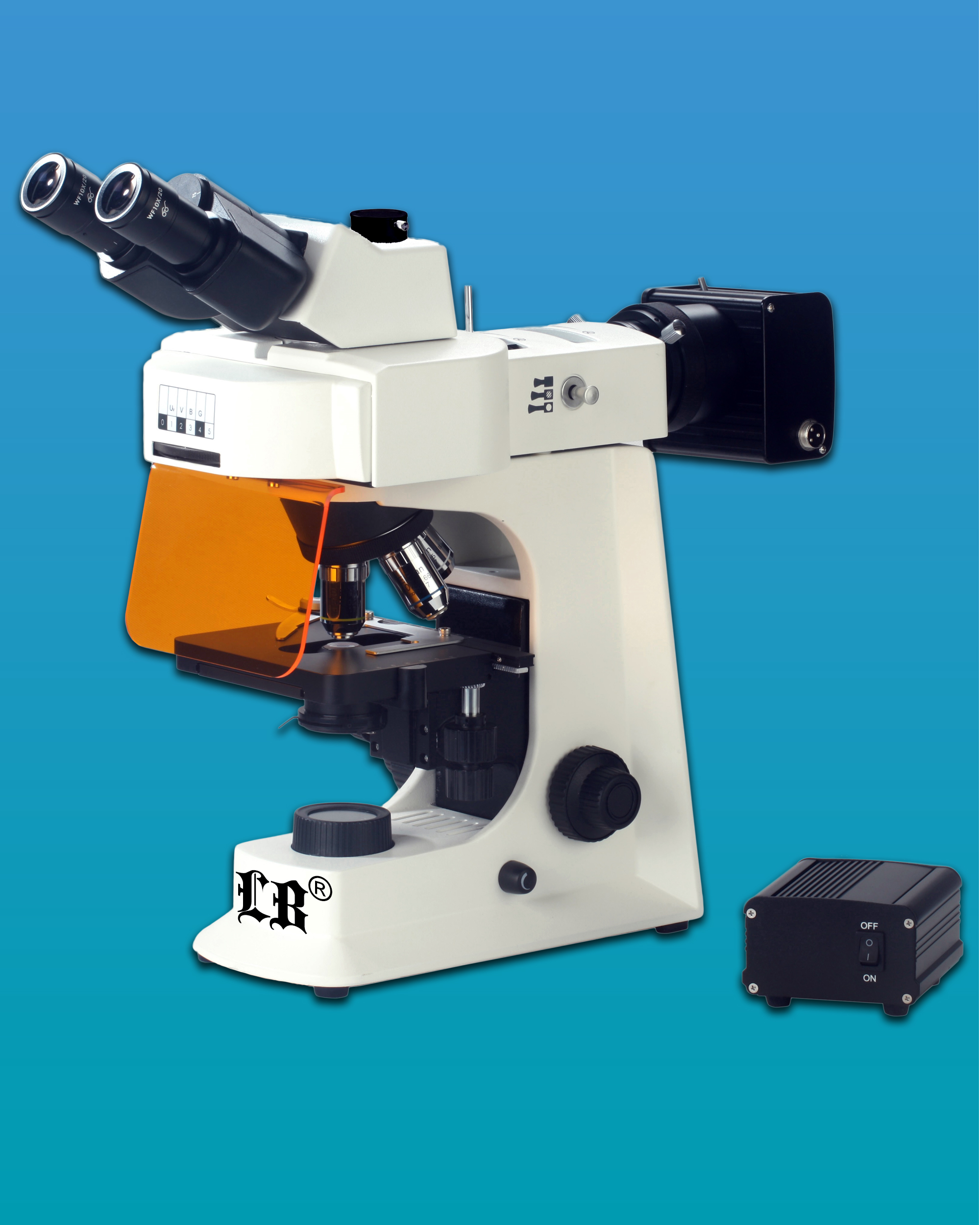 [LB-264] Biological Trinocular Flourescent Microscope w/ LED Illumination &  Infinite Optical System