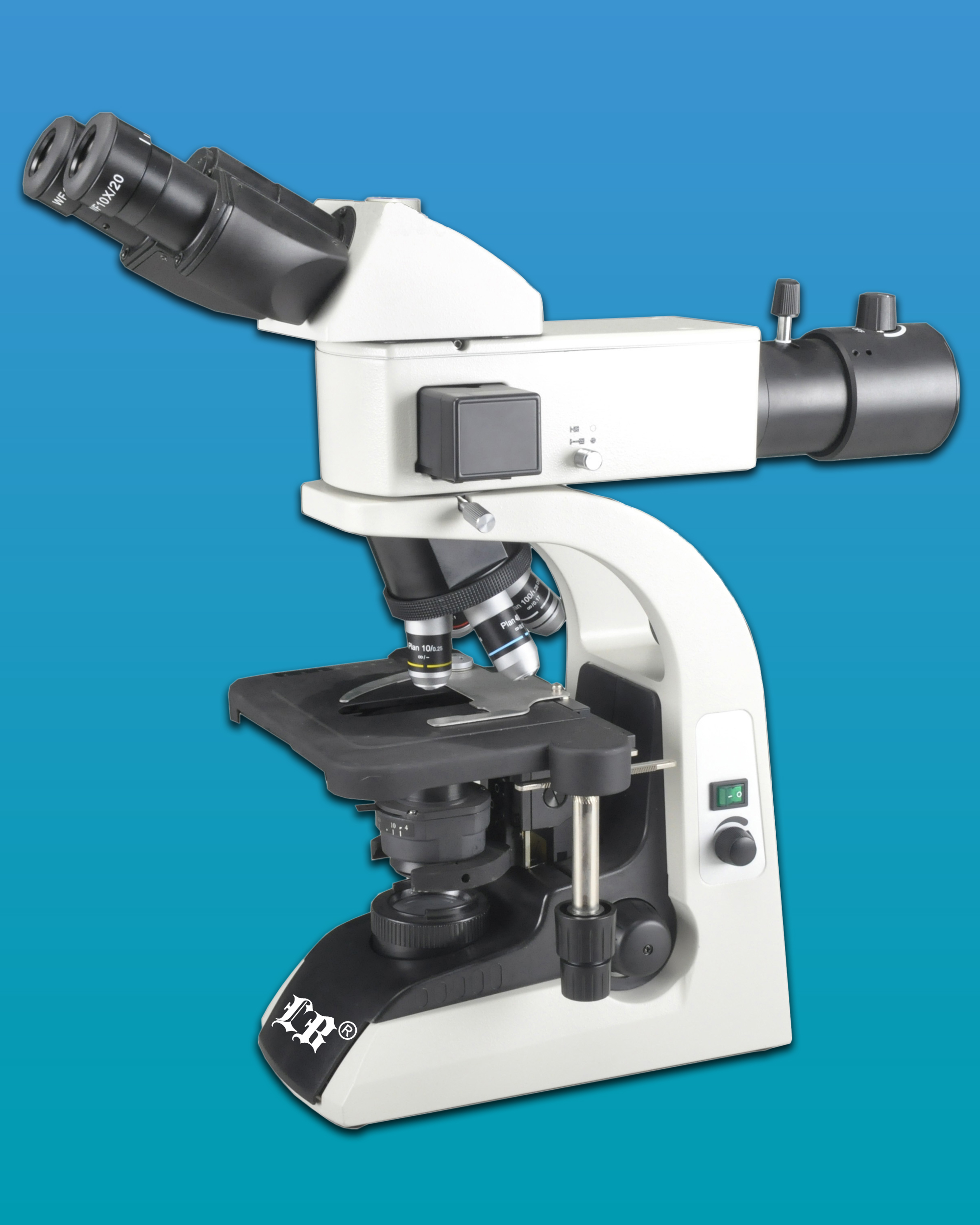 [LB-275] Trinocular LED Fluorescent Biological Microscope w/ Infinite Optical System