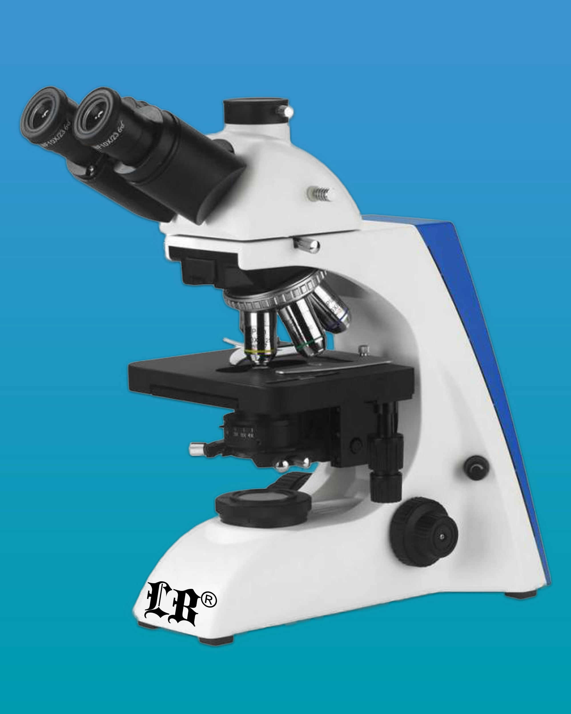 [LB-277] Trinocular Biological Microscope w/ Infinite Optical System, Wide Field, Infinite Plan Achromatic Objectives (4x, 10x, 20x, 40x, 100x)