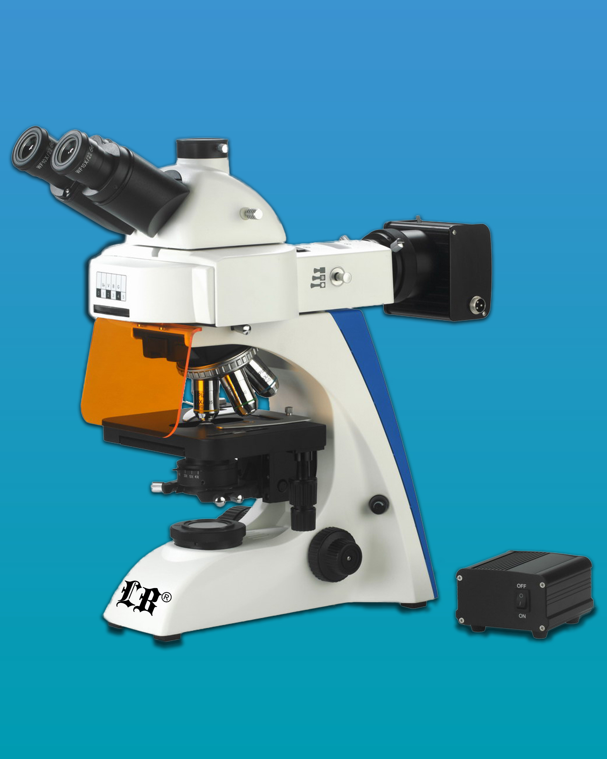 [LB-283] LED Flourescent Trinocular Medical Diagnostic Microscope