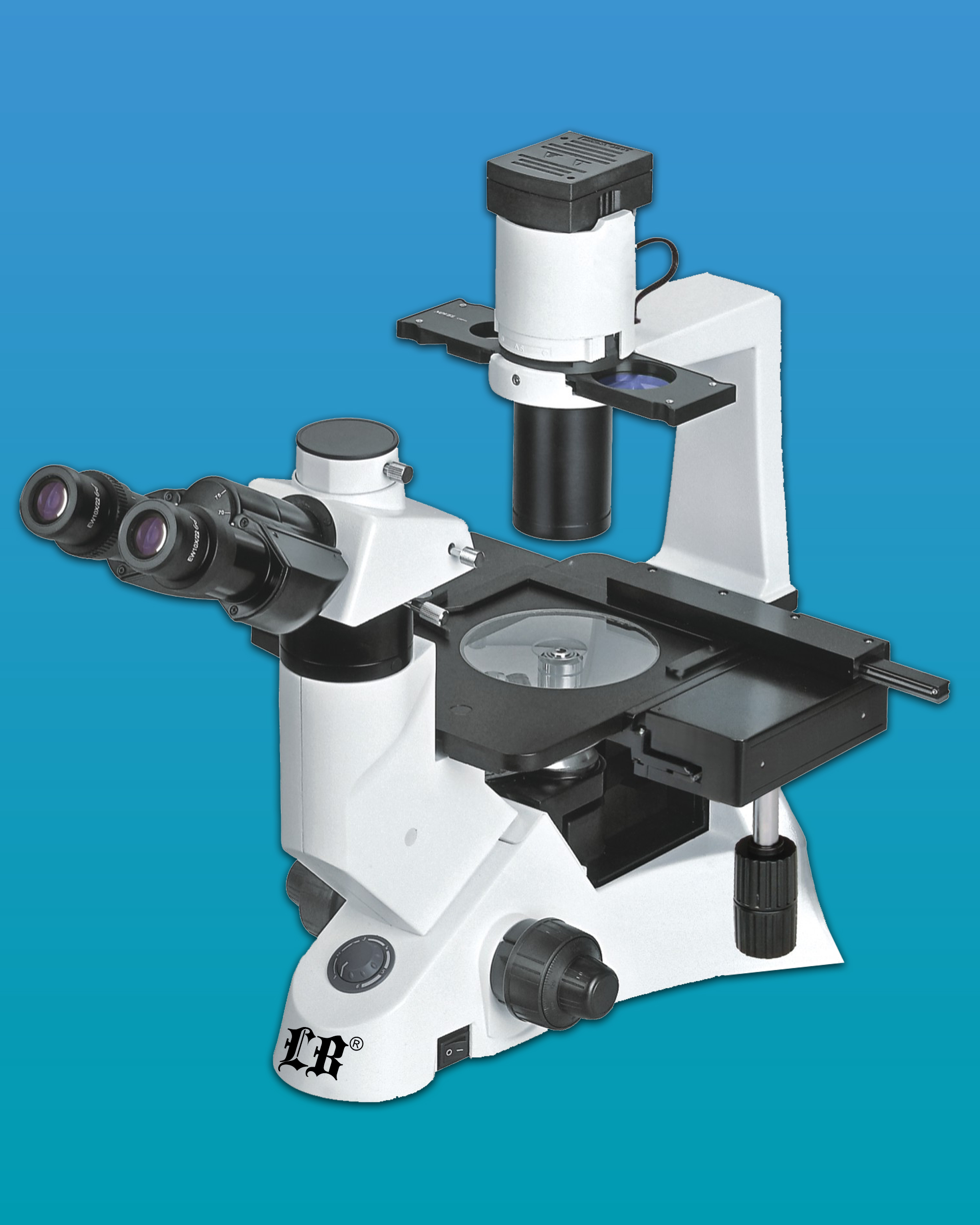 [LB-290] Inverted Trinocular Biological Microscope w/ Infinite Optical System