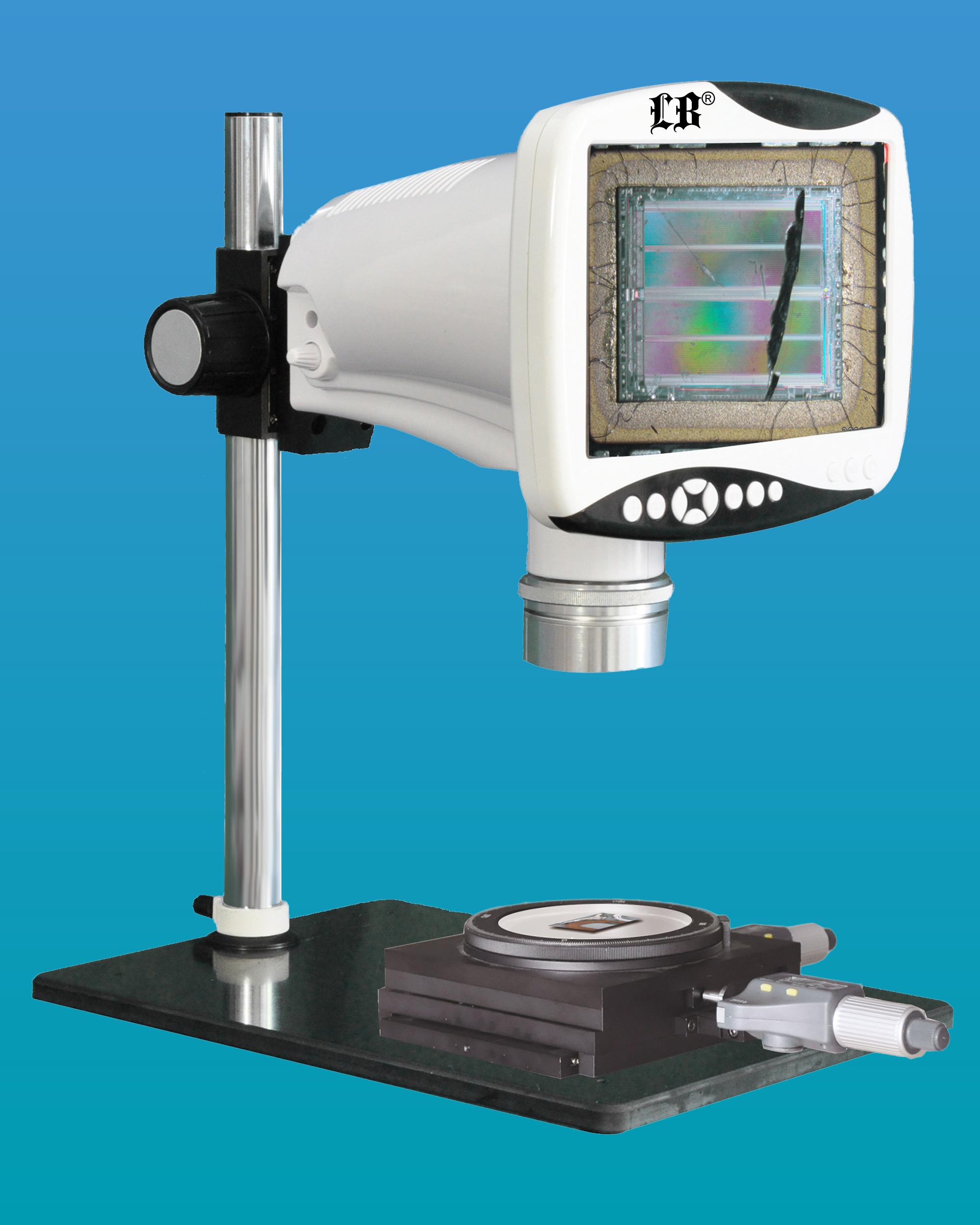 "[LB-343] Digital LCD Stereo Measuring Microscope w/ 9"" HD LCD Screen w/ HD Video & HDMI Output"