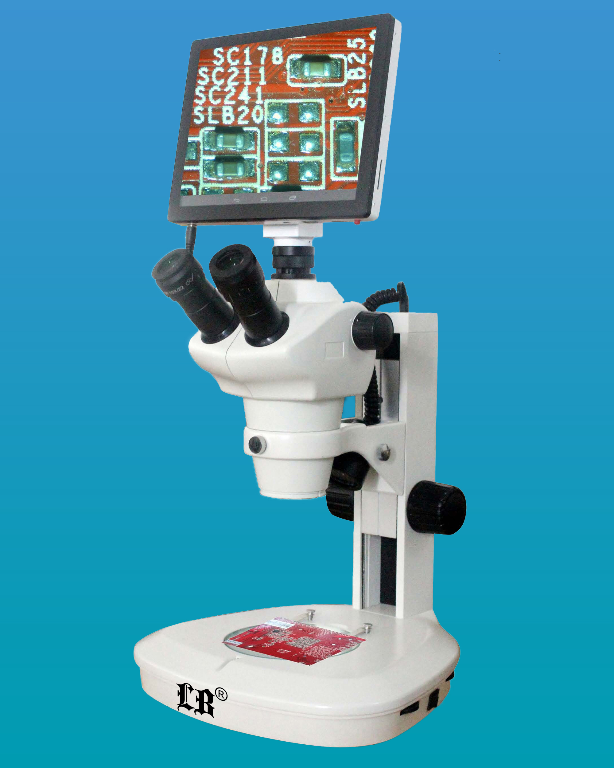 [LB-356] Digital Zoom Stereo Microscope w/ 5MP HD Touch Screen Digital Camera