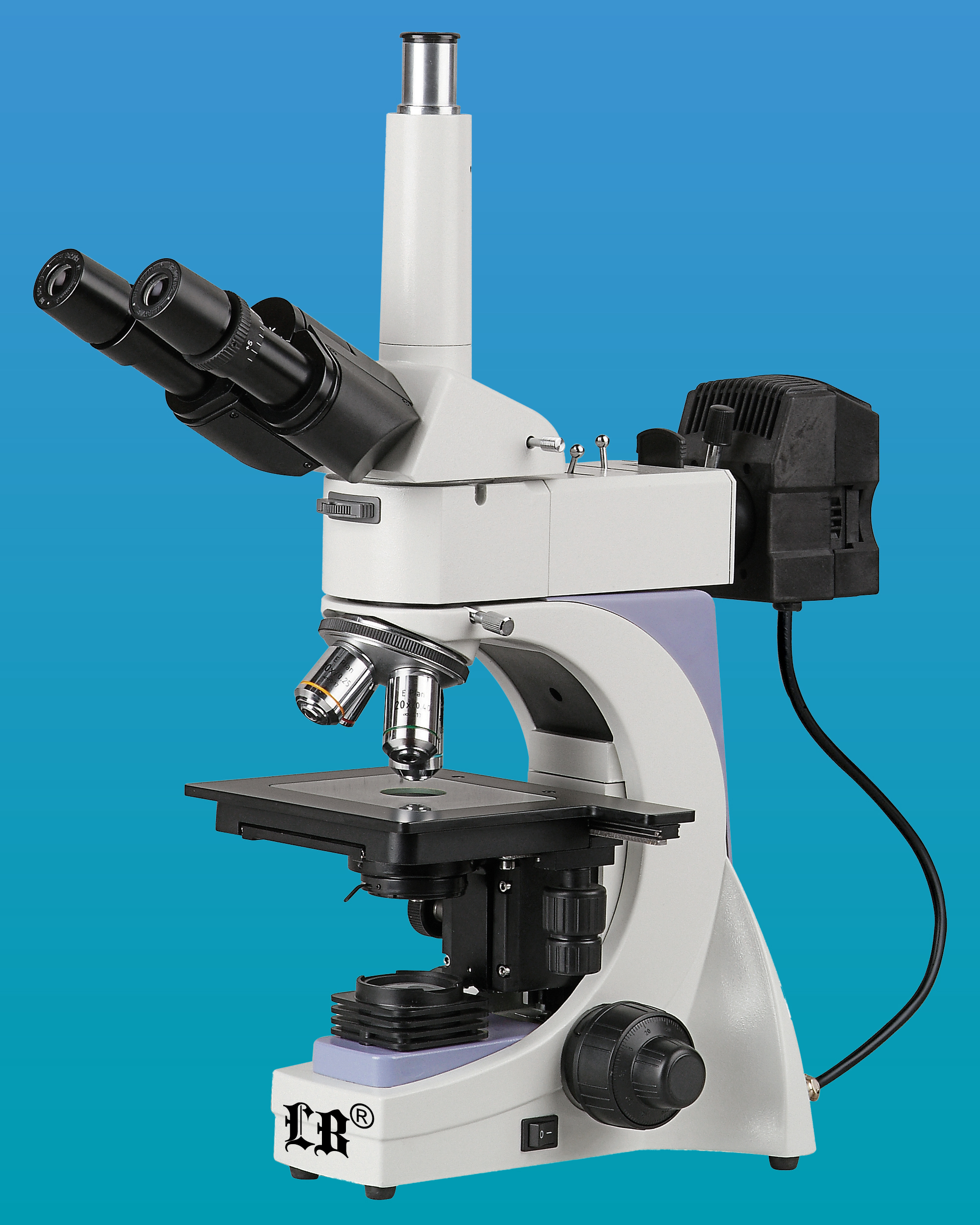 [LB-603] Trinocular Metallurgical Microscope w/ Infinite Optical System