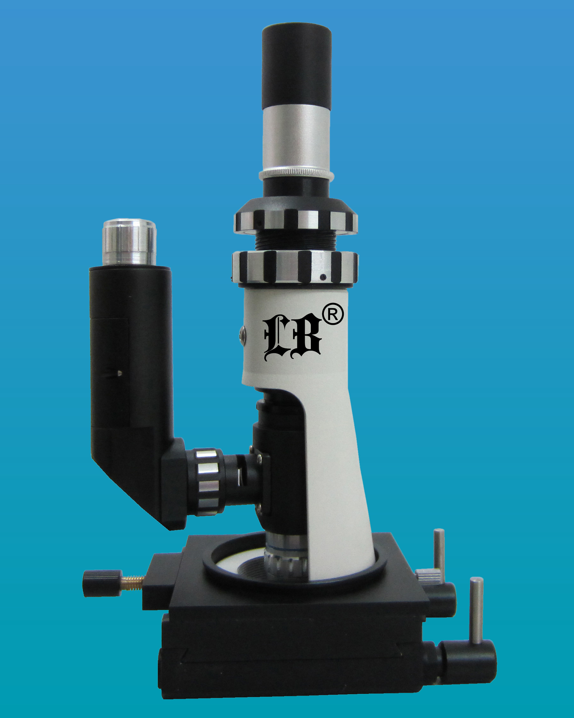 [LB-606] Portable Metallurgical Microscope w/ Magnetic Base, Plan Eyepiece & LED