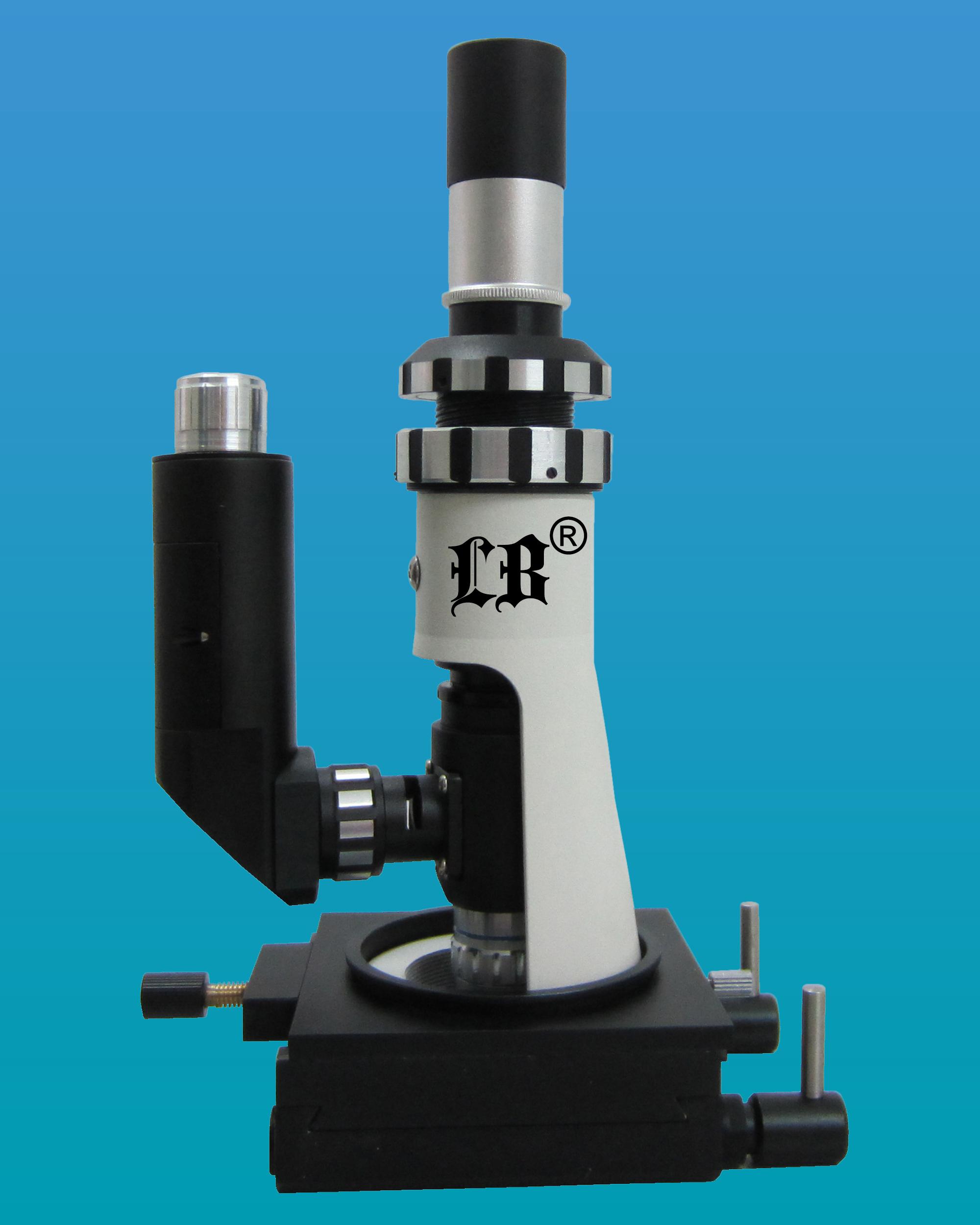 [LB-606] Portable Metallurgical Microscope w/ Magnetic Base, Plan Eyepiece & LED