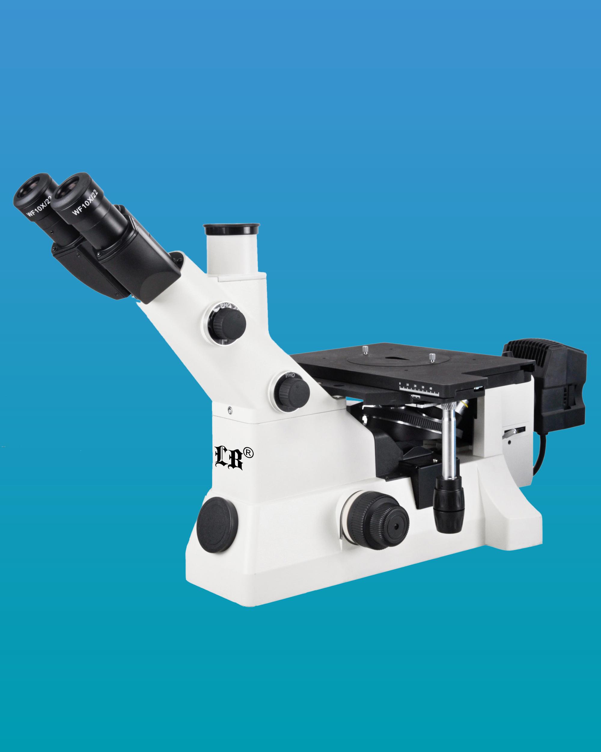 [LB-619] Inverted Trinocular Metallurgical Microscope w/ Infinite Plan Optical System, Extra Wide Field & Kohler Illumination