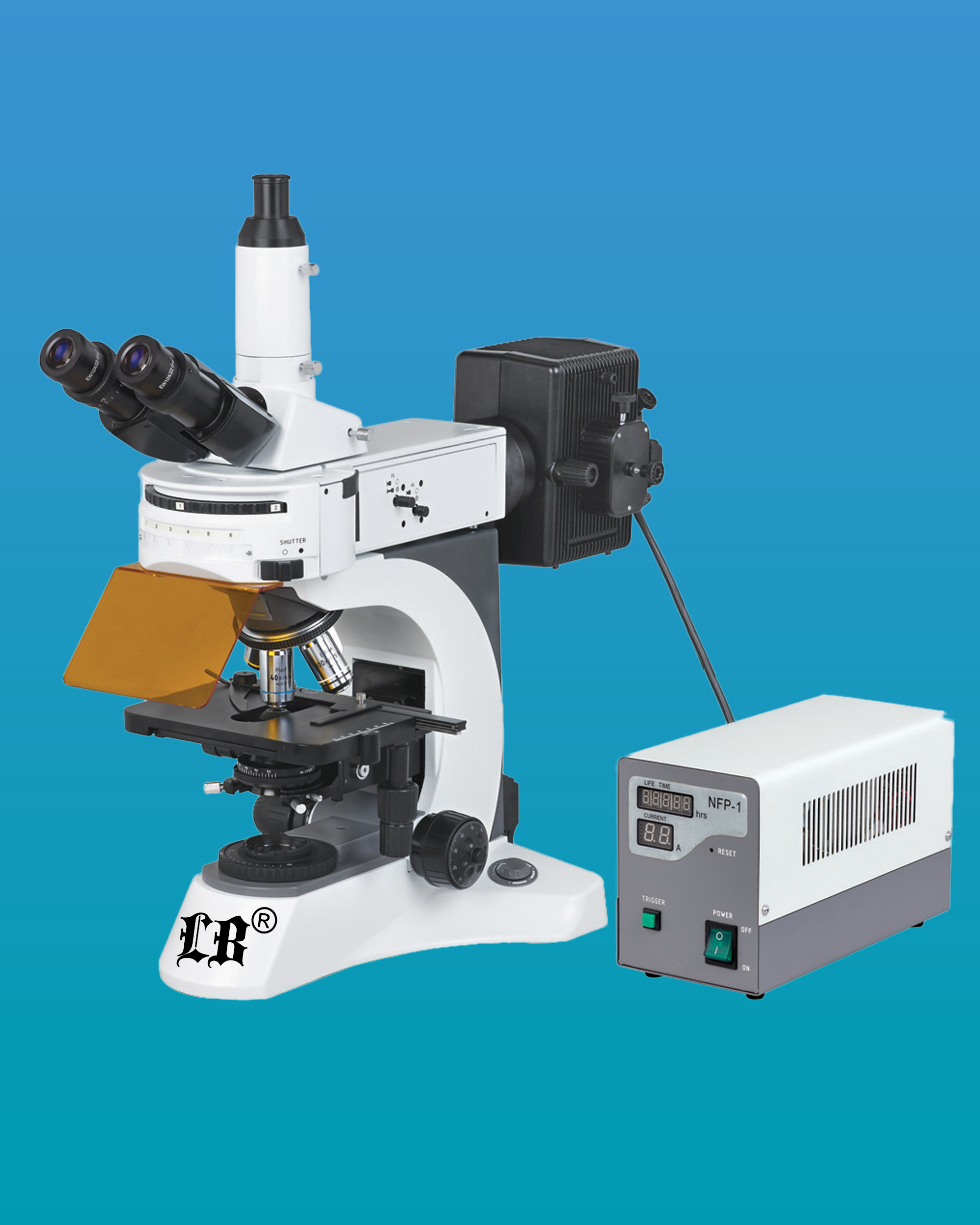 [LB-701] Trinocular Upright Flourescent Biological Microscope w/ Infinite Optical System