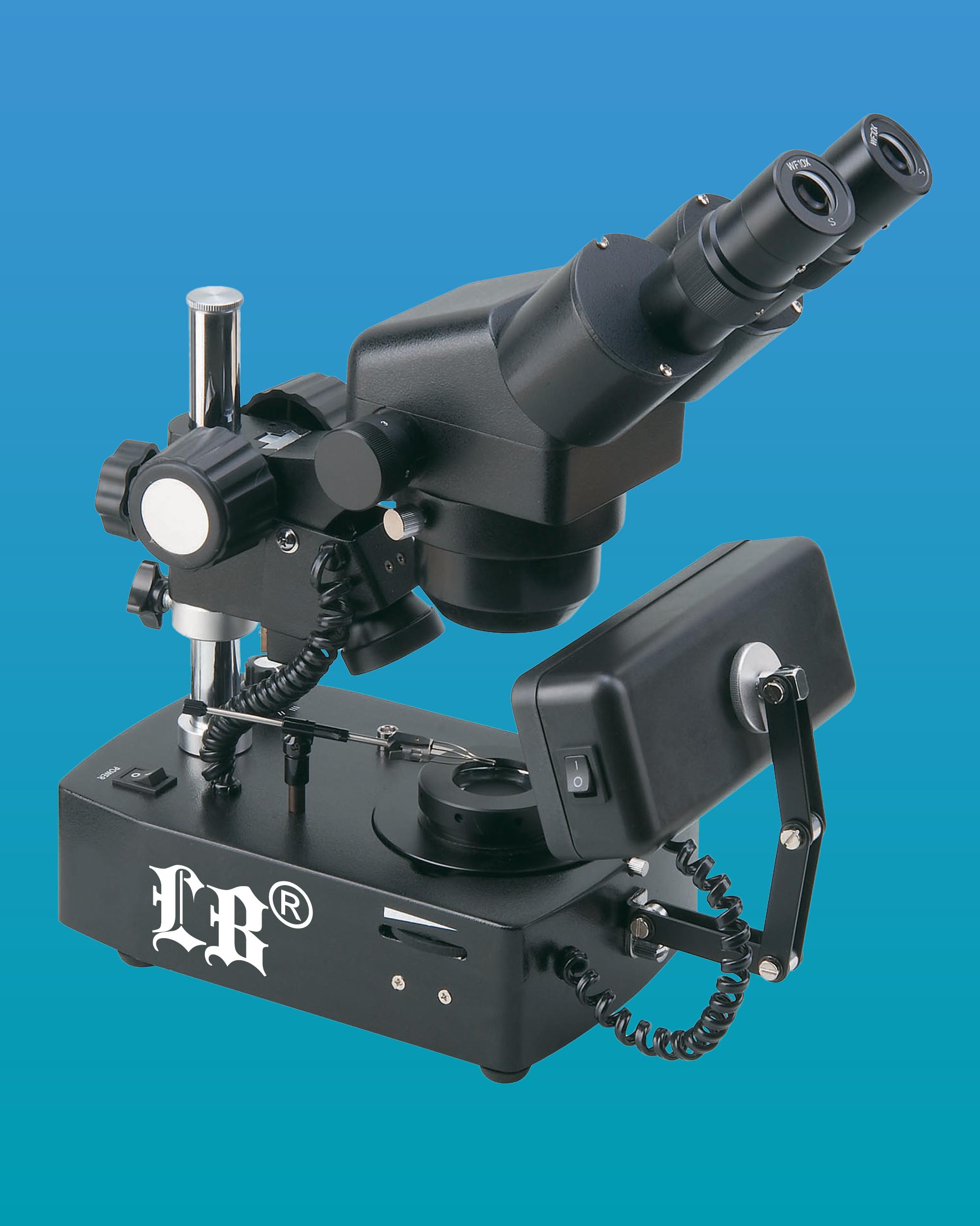 [LB-863] Binocular Gemological Microscope w/ Wide Field & Fluorescent Illumination