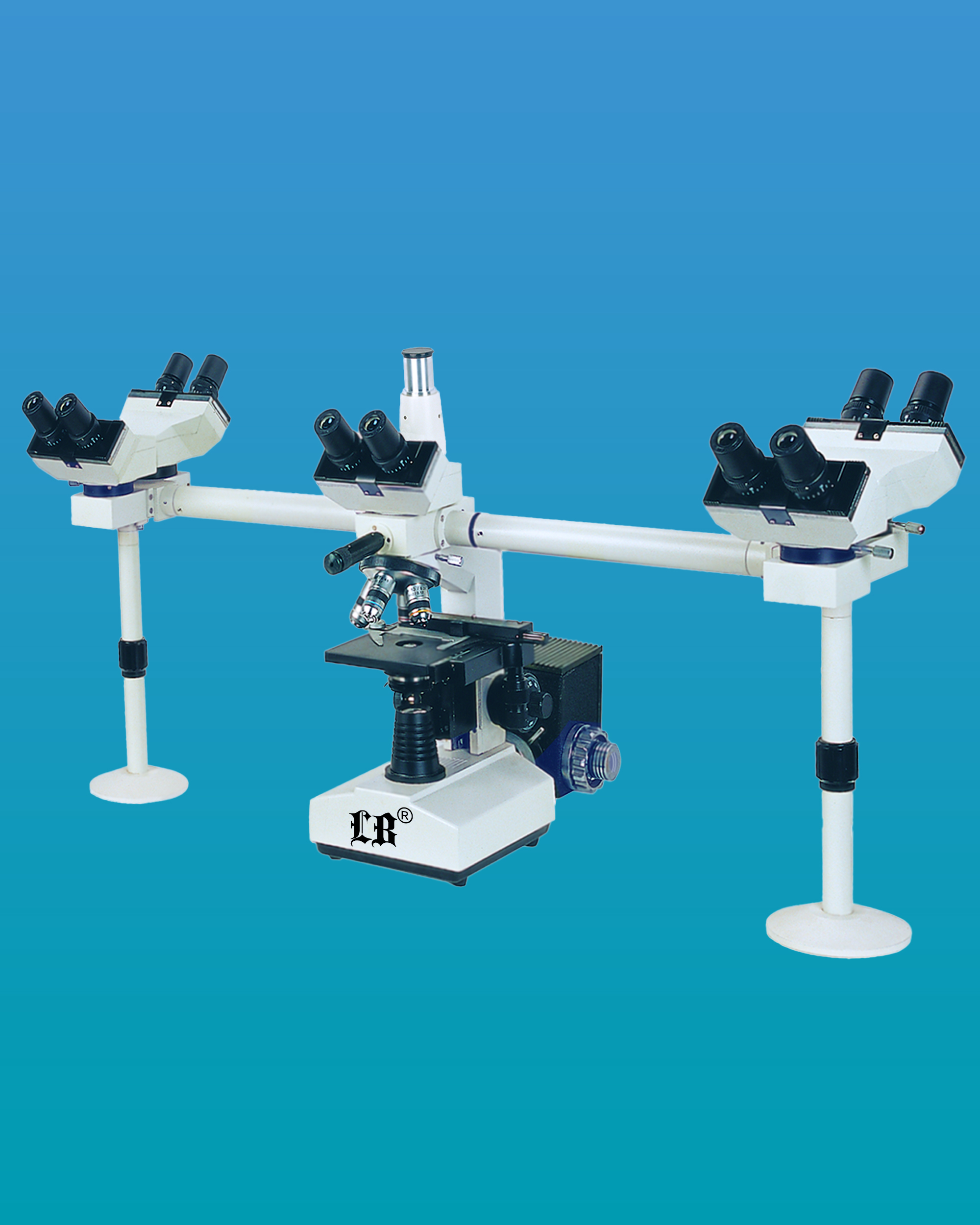 [LB-982] Multi-Head Microscope w/ Trinocular Head