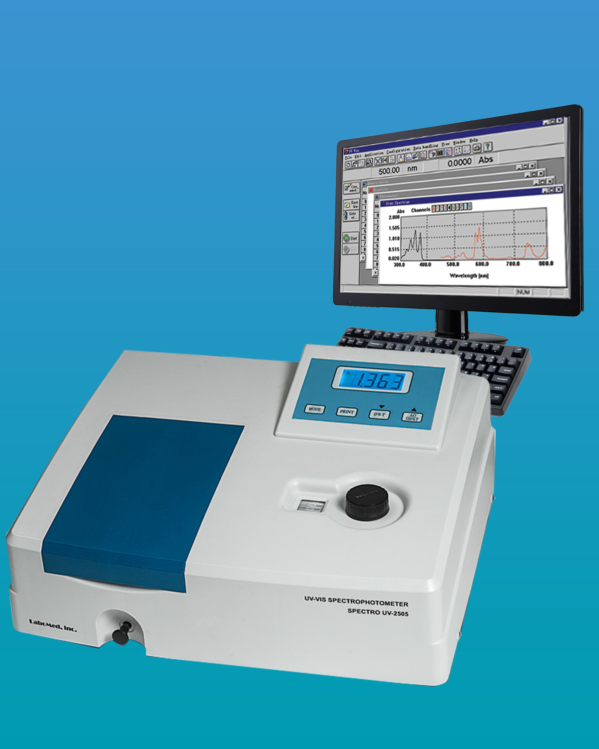 [UV-2505] UV-VIS Spectrophotometer w/ Multiple 4 Cell Holders