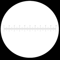 [GE-01] Graticules Eyepiece: 10/100 XYY, 24 mm, Crosslines and 10mm/100 Eyepiece