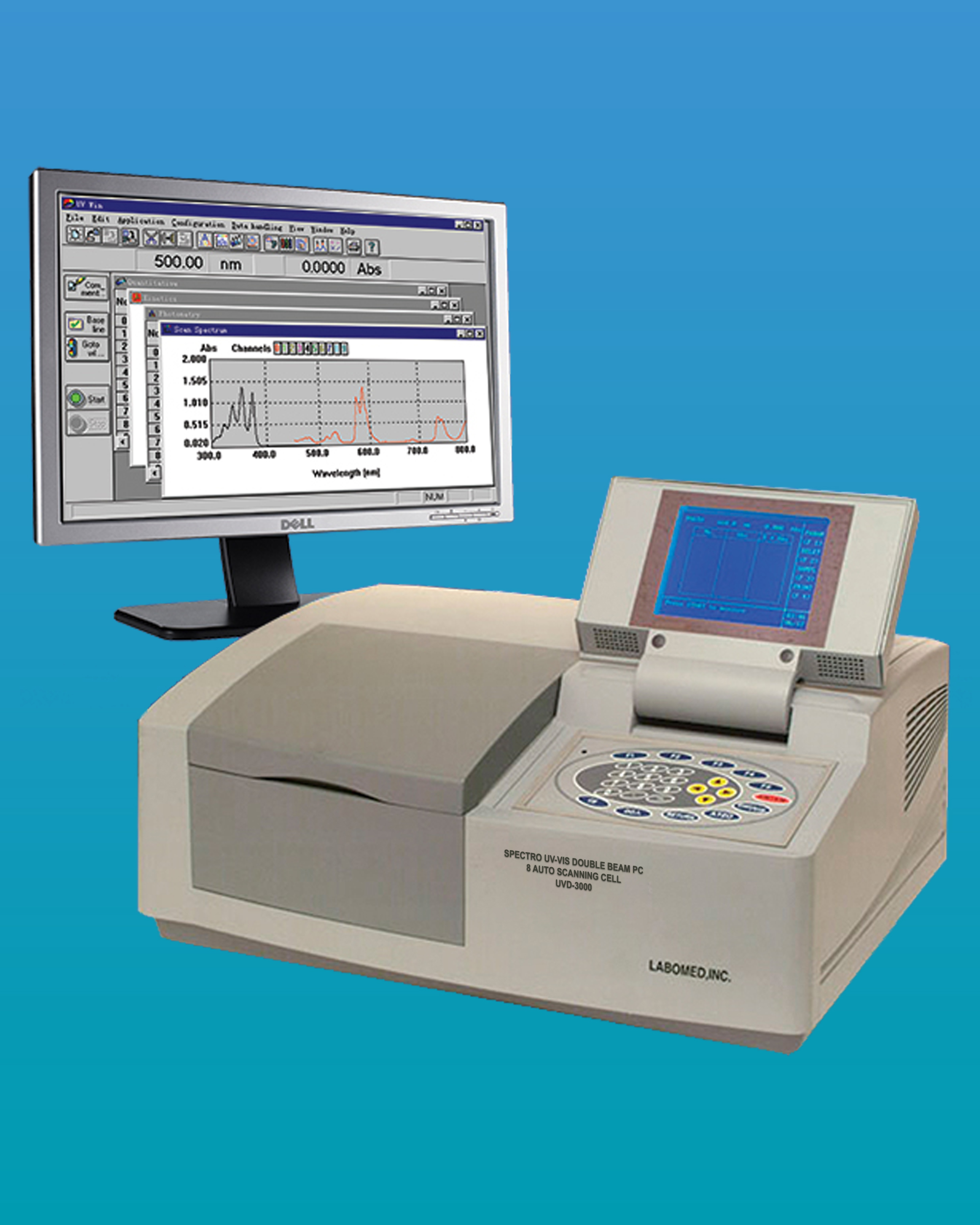 [UVD-3000] UV-VIS Double Beam 8CL Spectrophotometer