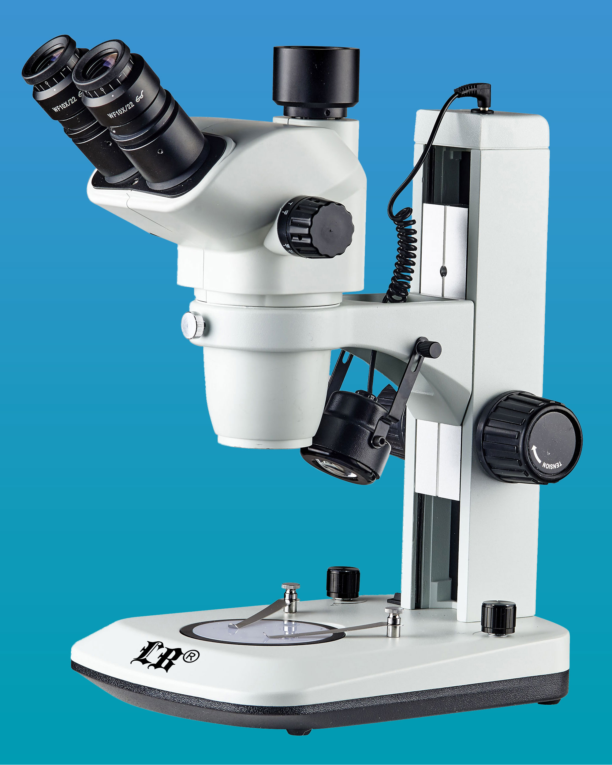 [LB-331] Trinocular Stereo Zoom Microscope w/ LED Illumination