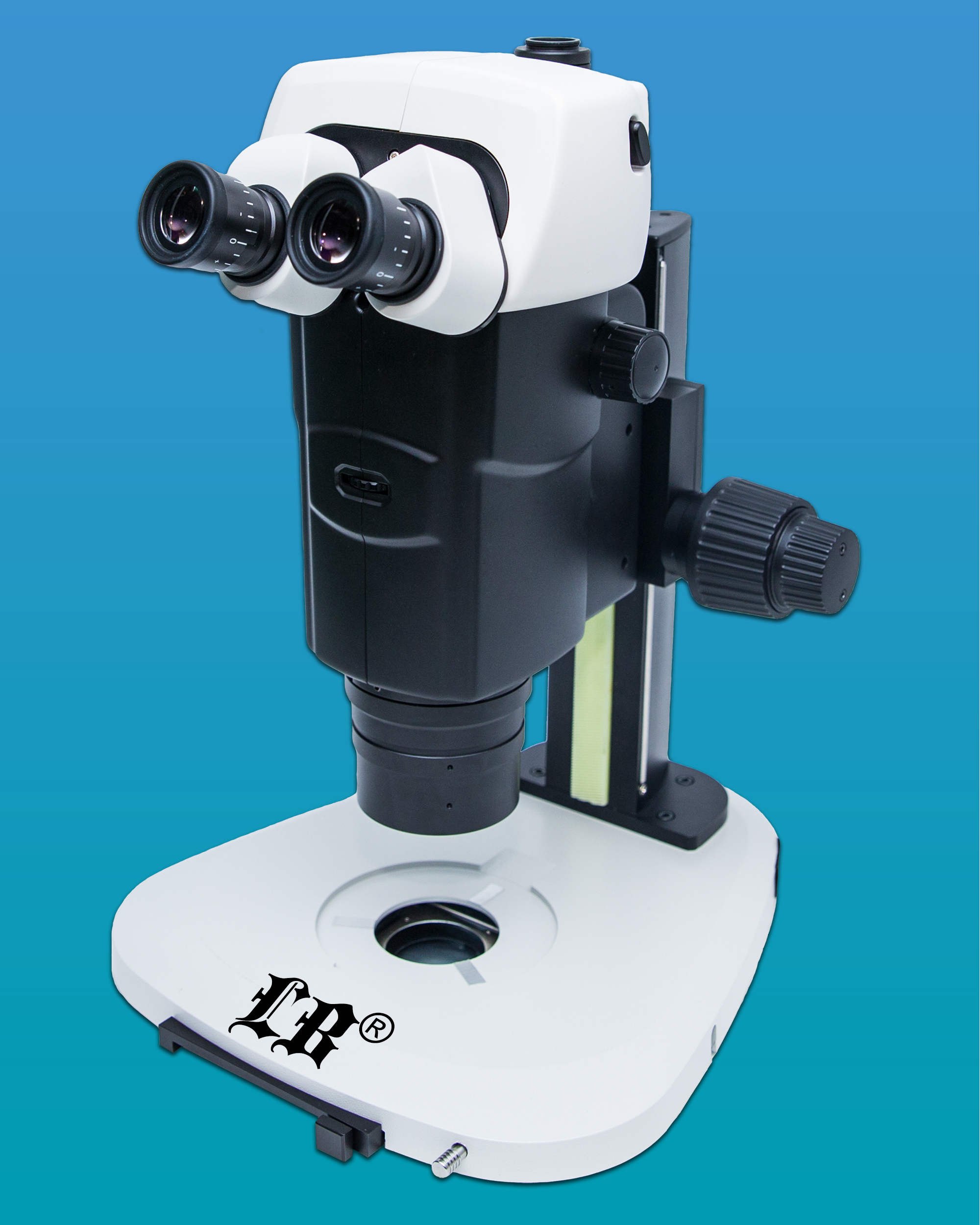[LB-390] Parallel Light Zoom Trinocular Stereo Microscope with Infinite Optical System and Plan Apochromatic Objective for Excellent Ergonomic System