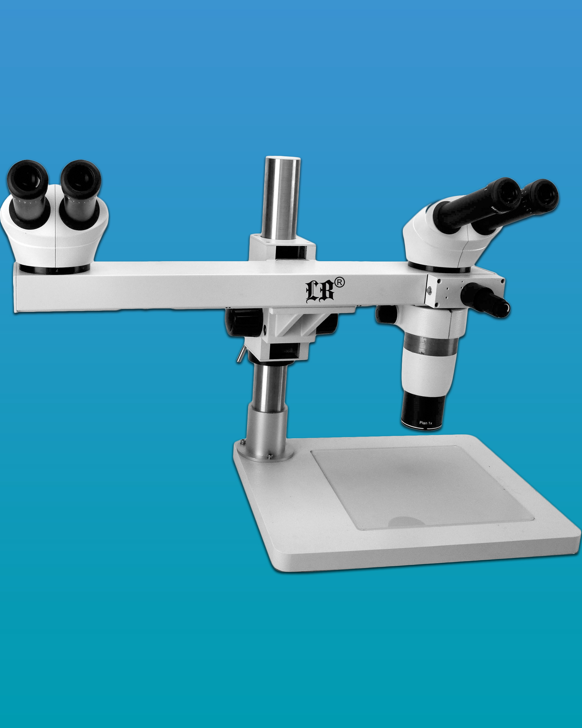 [LB-373] Dual Viewing Head Zoom Stereo Teaching Microscope w/ Infinity Parallel Optical System